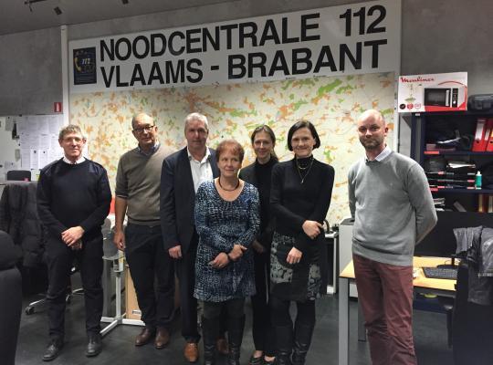 Bezoek 112 centrale - Jan Spooren en Dirk Brankaer